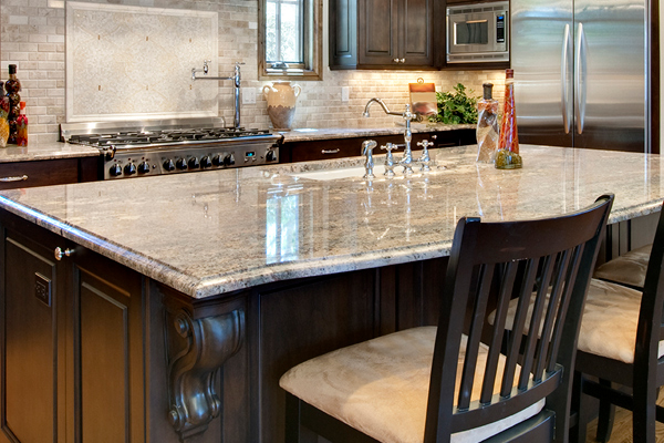Beautiful granite countertops from Full Circle Flooring of Reno, NV.